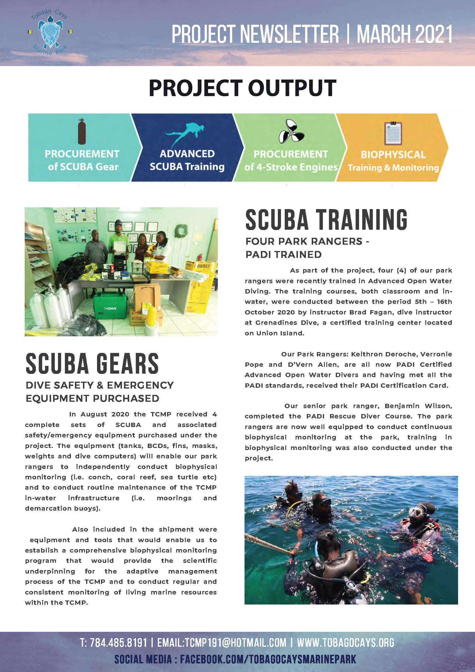 Tobago Cays Marine Park Project Newsletter
